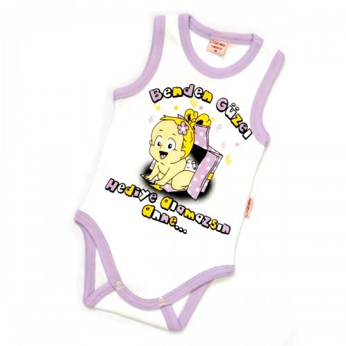 "Боди ""I was born"" (purple)"