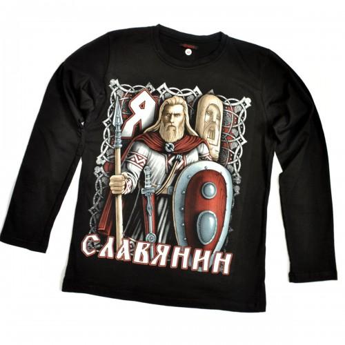 """Футболка """"Я - Славянин"""" (длинный рукав)"""