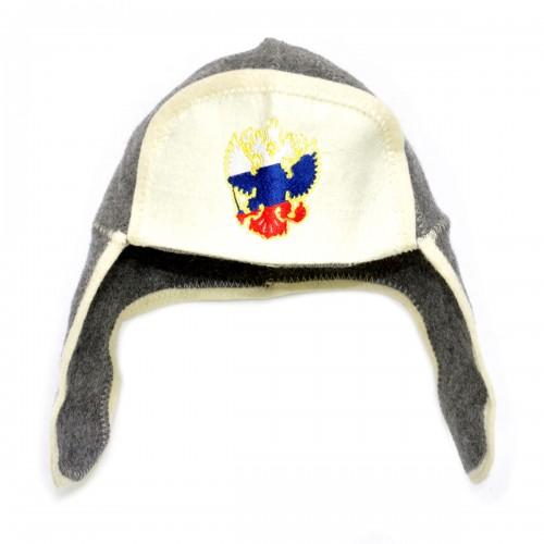 """Шапка для бани """"Герб России"""""""