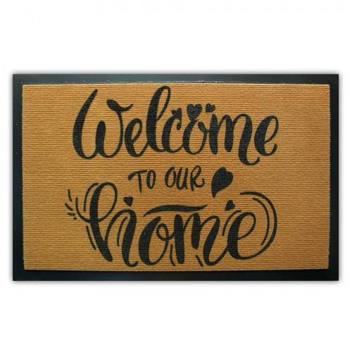 "Коврик придверный ""Welcome to our home"" (резиновая основа)"