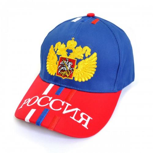 """Бейсболка спортивная """"Россия"""" (герб) -04"""
