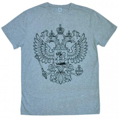 "Футболка ""Герб России"" (gray)"