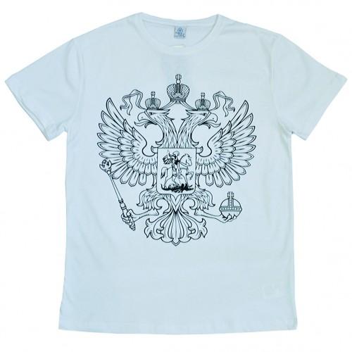 """Футболка """"Герб России"""" (white)"""