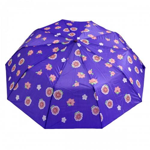 """Зонт женский """"Сереневые цветы"""" (полуавтомат)"""