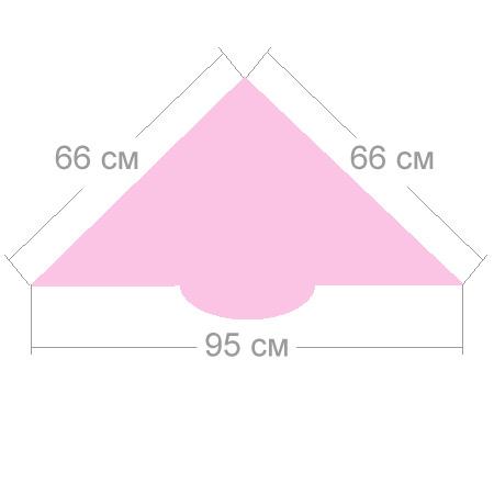 Размер женской косынки