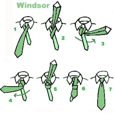 Как завязывать галстук - узел