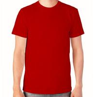 красные футболки без изображения